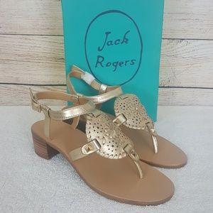 New Jack Rogers Gretchen Rodelle Leather Sandals